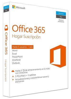 Office 365 Hogar 5 PC Windows Mac
