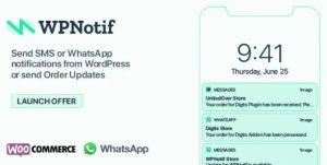 WPNotif Notificaciones y SMS + Addons