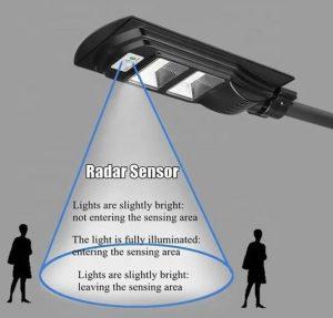 Foco LED solar de 120 Watt con control remoto para poste