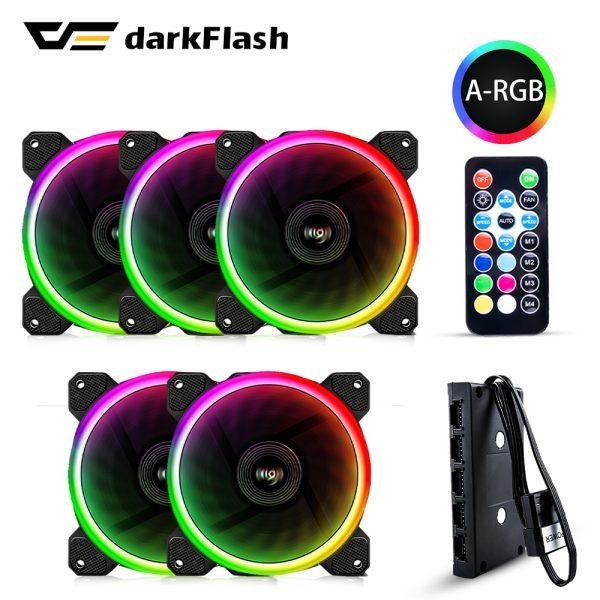 Aigo DR12 PRO Pack 3 ventiladores RGB 120mm