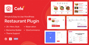 WP Cafe Restaurant Reservation Food Menu and Food Ordering for WooCommerce